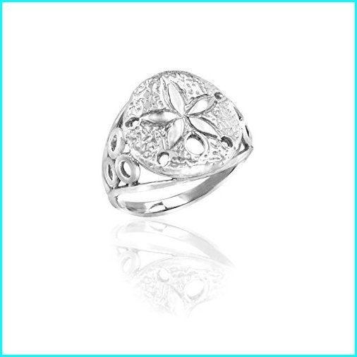 【全品送料無料】 Honolulu Jewelry Company Sterling Silver Sand Dollar Ring (7.5), インポート雑貨卸zakkart f2224446