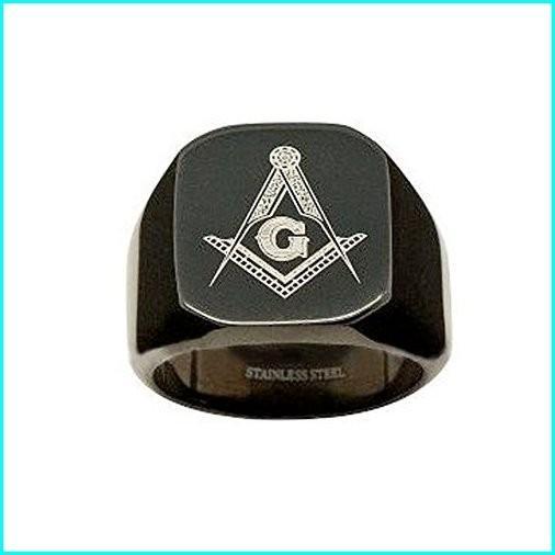 限定価格セール! Black Flat Face for Stainless Steel Masonic Rings for for Black Men. Freemason Ring/ Masonic Jewelry for Free Masonry Lodge Member (9), yes style:79edeb58 --- taxreliefcentral.com
