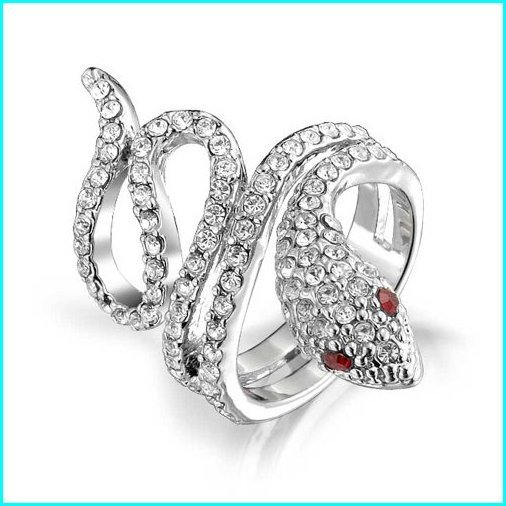 2019新作モデル Bling Jewelry Twisted Snake Ring Simulated Garnet Crystal Rhodium Plated,Size:8, MASUTANI d79837af