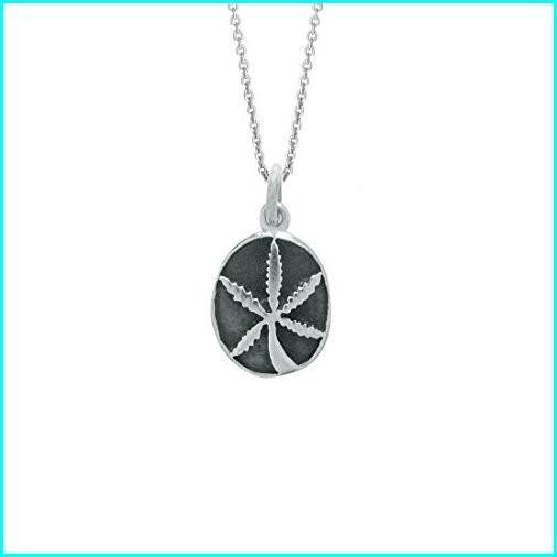 全商品オープニング価格! Ritastephens Sterling Silver Marijuana Weed Pot Leaf Pendant Charm Necklace 18 Inches, ソウヤグン 8e234f08