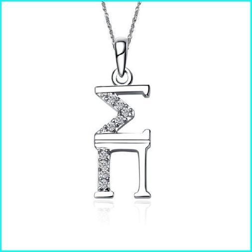 激安通販 Greek Star Sigma Pi Sweetheart Necklace with a 18