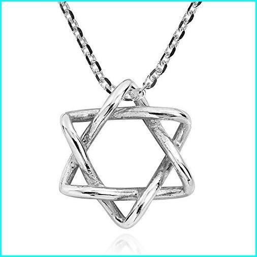お気に入りの AeraVida Intertwined Star of David .925 Sterling Silver Pendant Necklace, ママズフィッシングハウス 6ea00494