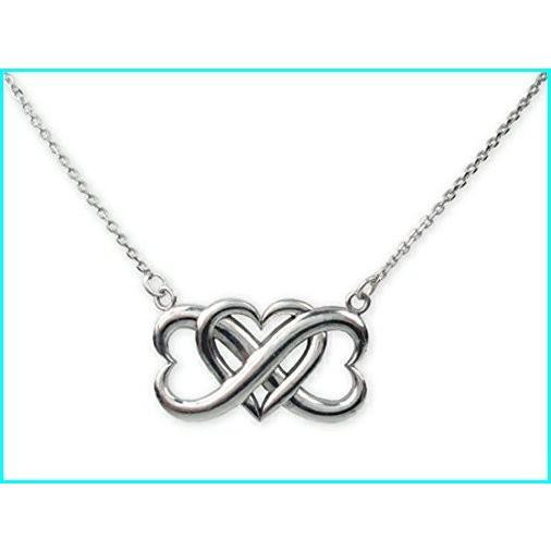【2019春夏新色】 Finejewelers Sterling Silver Triple Heart Infinite Love Pendant Necklace Adjustable Chain Included, i-cot 2443425a