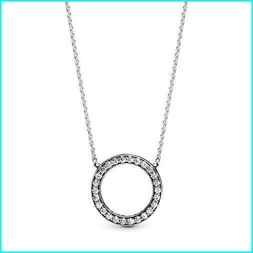 安い PANDORA/ - Circle with of Sparkle Necklace in Sterling Silver Zirconia, with Clear Cubic Zirconia, 17.7 IN/ 45 CM, DVD-outlet:1868a3f6 --- airmodconsu.dominiotemporario.com