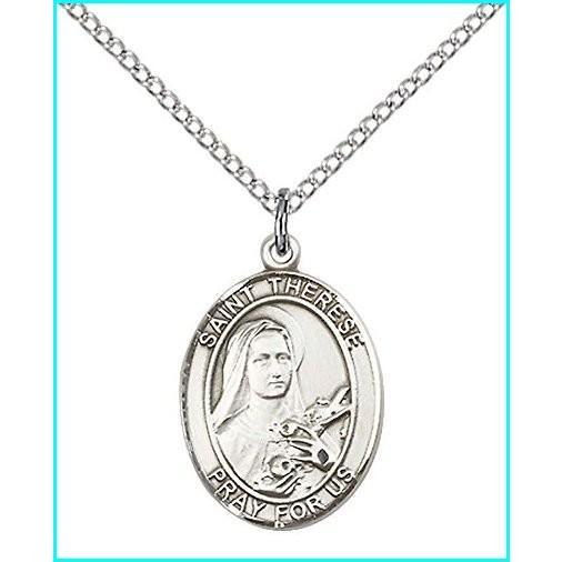 福袋 F A Dumont Sterling Silver St. Therese of Lisieux Pendant with 18