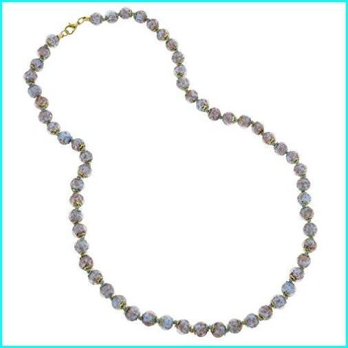 2019人気No.1の GlassOfVenice Murano Glass Sommerso Long Necklace - Periwinkle, コレクションケースのお店 7b2cd4c9
