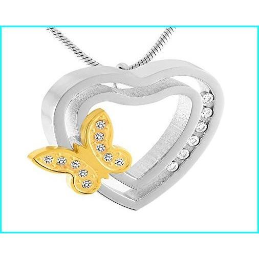 超熱 Casket Etcetera Beautiful Butterfly Heart Urn Necklace Cremation Jewelry for Women, Keep Your Love Ones, 信州の特産品まるたか 90c33083