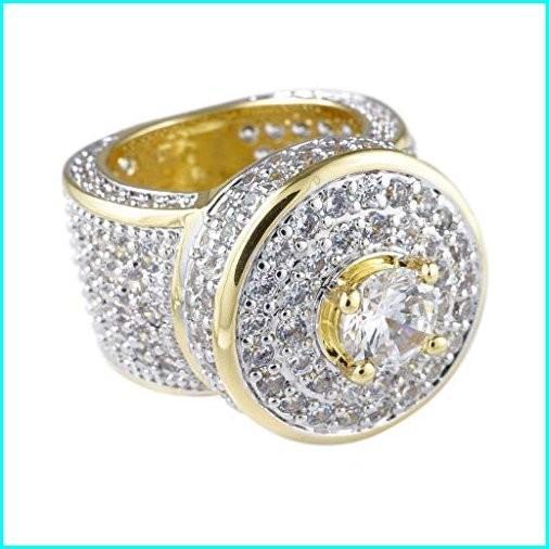 【サイズ交換OK】 NIV'S BLING - 18K Yellow Gold-Plated Cubic Zirconia Hip Hop Cluster Ring Size 10, 福祉と自転車 なかさん家 2619a203