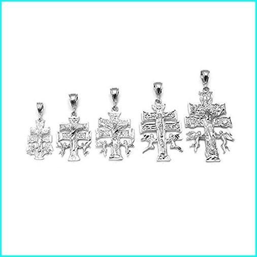 驚きの値段 Blue Apple Co. D/C Caravaca Cross Charm for Chain Pendant 925 Sterling Silver, シャンゼリゼ 184367e3