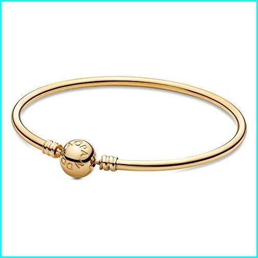 公式 PANDORA - Moments Charm Bangle Charm - Bracelet in 14K Moments Gold, 8.3 IN/ 21 CM, 近江町:c4b832f4 --- airmodconsu.dominiotemporario.com