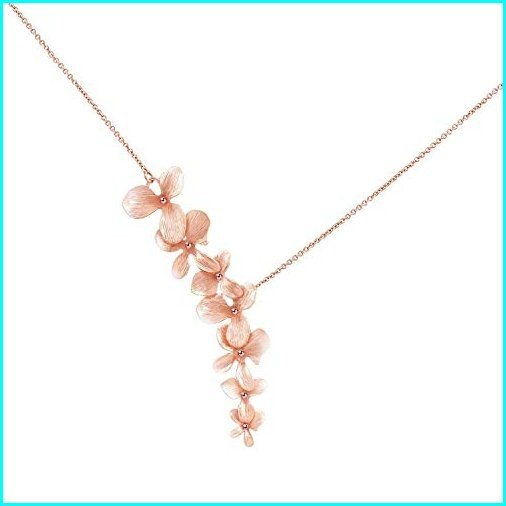 大特価放出! Ann Tarry 24K Gold Plated Orchid Flower Necklace Or Bracelet (Rose-Gold Plated Necklace), nikkashop b813d9ec