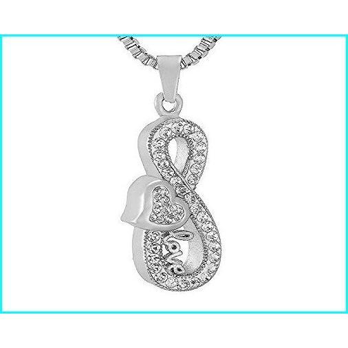【メーカー直送】 Casket Etcetera Infinity Collections Cremation Urn Ashes Pendant Necklace Jewelry for Women, Box Chain 21'' Stainless Steel (Infinity with Love), 雀屋本舗横山蒲鉾店 bce45c53