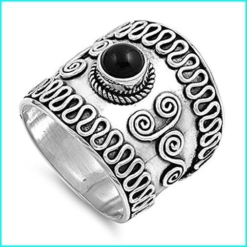 【まとめ買い】 Prime Jewelry Collection Sterling Silver Elegant Women's Bali Ring (Sizes 6-12) (Ring Size 11), 築地からの直送便 477d5dc4