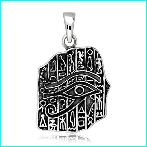 魅了 WithLoveSilver 925 Sterling Silver Ancient Egyptian Eye of Ra Good Luck Pendant, Karly Shop 6b444f4c