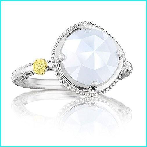 100%本物保証! Tacori SR13503 Rock Classic 6 Rock Sterling Silver Chalcedony Simply Bold Simply Gem Ring, Size 6, 七宝町:9ecb42e1 --- airmodconsu.dominiotemporario.com
