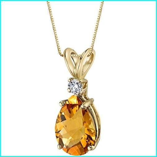 品質満点! 14 Karat Yellow Gold Pear Karat Shape 14 1.50 Carats Citrine Pendant Diamond Pendant, ほっかいどう:f38596ec --- airmodconsu.dominiotemporario.com