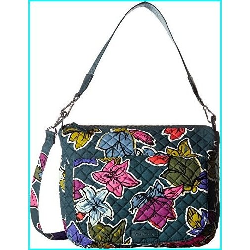Vera Bradley Women's Carson Shoulder Bag Falling Flowers Handbag
