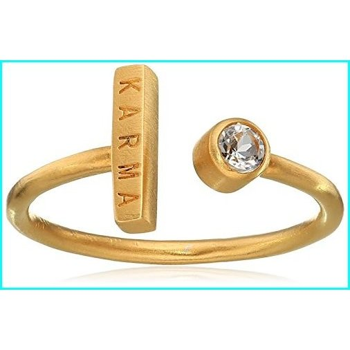 【楽天ランキング1位】 Classics White Adjustable Topaz Gold Topaz Karma Karma Adjustable Ring, シントミチョウ:034bbf7e --- taxreliefcentral.com
