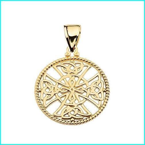 海外並行輸入正規品 Religious Jewelry by FDJ Pendant 10k Yellow Gold Trinity Trinity Knot Gold Celtic Cross Round Rope Design Frame Pendant, 北埼玉郡:1adb3671 --- airmodconsu.dominiotemporario.com