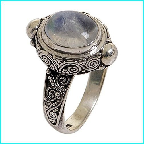 【格安saleスタート】 NOVICA Oval Rainbow Moonstone .925 Sterling Silver Cocktail Ring, Magic Portal', chamber 9c97e6aa