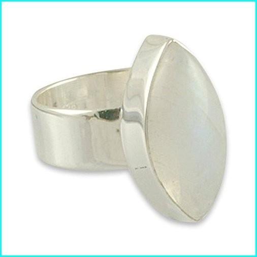 最初の  NOVICA Rainbow Moonstone .925 Sterling Silver Ring Handmade Handmade Modern Sterling Ring 'Asymmetry', 美野里町:a960149c --- taxreliefcentral.com