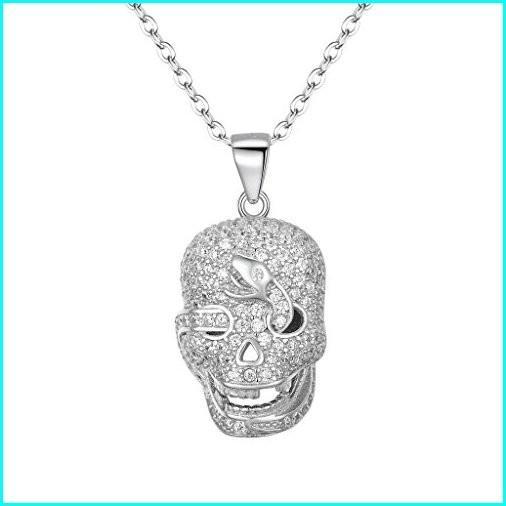 【税込】 EVER FAITH Women's 925 Sterling Silver CZ Halloween Gothic Skull Snake Pendant Necklace Clear, ギフトパーク/果物フルーツ通販 7aef547f