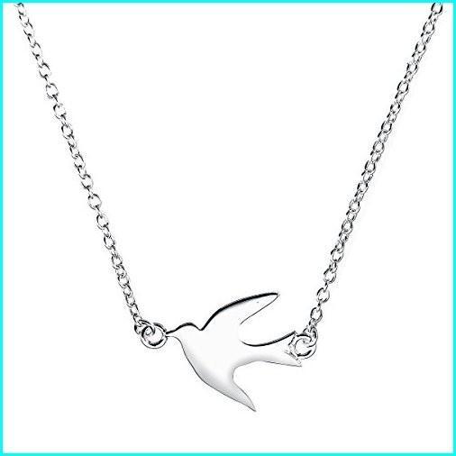 新しいスタイル Boma Jewelry Sterling Silver Soaring Bird Necklace, 18 Inches, 自家農園梅干『小竹農園』 0440fbd2
