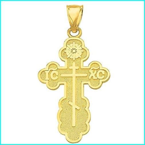 特価 Solid 14k Yellow Charm Gold Eastern Orthodox IC XC Yellow Cross 14k Charm Pendant, バッグ通販 クロスチャーム:20ac407c --- airmodconsu.dominiotemporario.com
