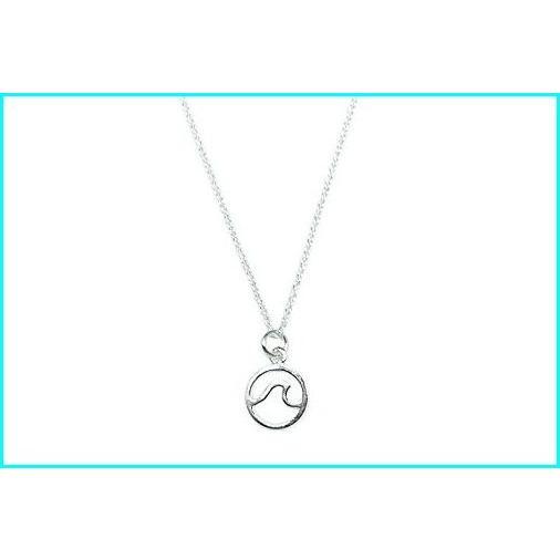 最愛 Pura Vida Silver Wave Necklace - .925 Sterling Silver, Summer-Themed - 18