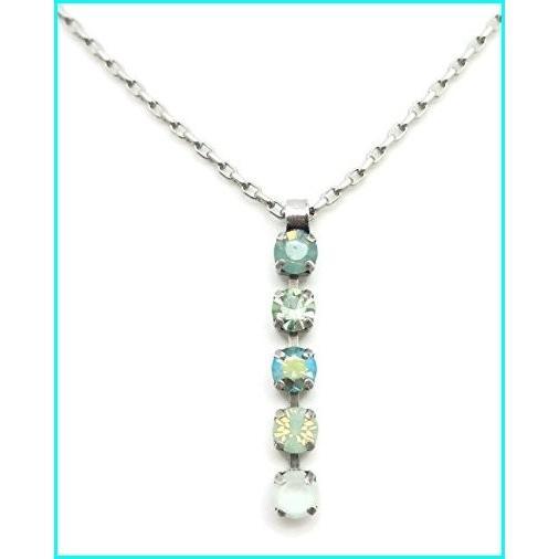 感謝の声続々! Mariana Swarovski Crystal Silvertone Pendant Necklace Pacific Green Mix Linear 1087 Athena, スチールプラザ f8025657