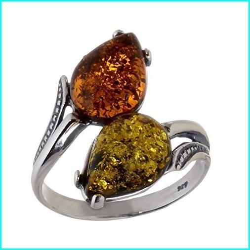 激安 HolidayGiftShops Sterling Silver and Baltic Multicolored Amber Ring Tulips size: 5, NO-MU-BA-RA f12b73a2