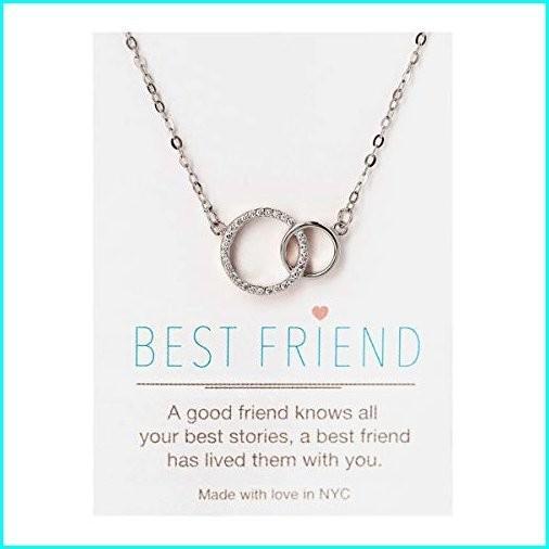 満点の A+O Best Friend Gift, Friendship Necklace - Interlocking Circles Pendant Necklace in Silver, anetto 0230368c