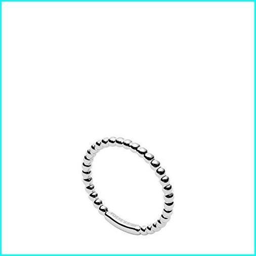 ふるさと納税 Fossil Women's Textured Beads Sterling Silver Ring, Silver, 8, 杢目MOKUME 707e628e