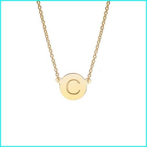 人気を誇る Deidreamers Round Disk Initial Necklace (Gold:C), 印傳屋 甲州印伝専門店 サンアール e468c4d4