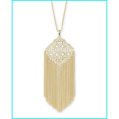 激安単価で Kendra Scott Kingston Pendant Necklace in Filigree, 14k Gold-Plated Over Brass, はかりん坊将軍 d41cc846
