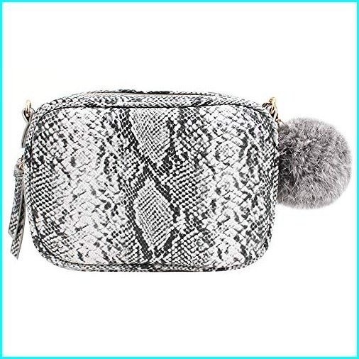 最新入荷 Aisa Women Snakeskin Pattern Bag Handbag Handbag Retro Square Shoulder Bag Women with Metal Chain Grey, e-cleマート:dab3e2cc --- chizeng.com