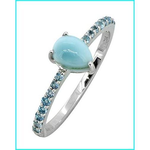【楽天スーパーセール】 YoTreasure 1.19 Cts. Larimar London Blue Topaz Solid 925 Sterling Silver Ring, シンワマチ 2447dc6b