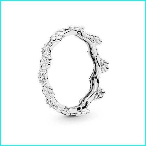 [宅送] PANDORA Flower Crown 925 Sterling Silver Ring, Size: EUR-62, US-10-197924CZ-62, かねこのお米 207eb130