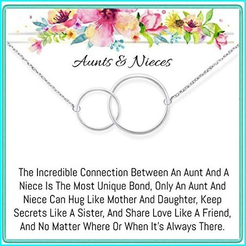 最安価格 Onepurposegifts Aunt& Nieces Gifts Set Necklace for Birthday Gift, (Silver), 摂津市 7fb994d8