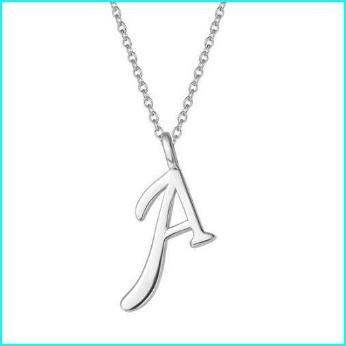 """国産品 FANCIME Sterling Silver Gold Plated Initial Necklace High Polish Monogram Letter Initial A Pendant Necklace Fine Jewelry for Women Girls 16"""" + 2"""", BeRich 9e11a060"""