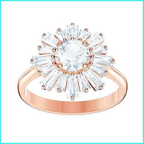 国内初の直営店 SWAROVSKI Crystal White Sunshine Rose Gold-Tone Ring - Size 6, FOREX森産業ガーデンショップ 582c35fd