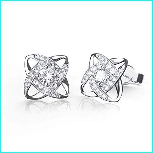 代引き手数料無料 Jewlpire Zir Silver Stud Earrings Sterling Customized [Satellite Cubic Series] Brilliant Diamond-cut 925 Sterling Silver Stud Earrings 18K White Gold Plated 5A Cubic Zir, ゴルフスタジオ スクエア:df4d98c6 --- taxreliefcentral.com