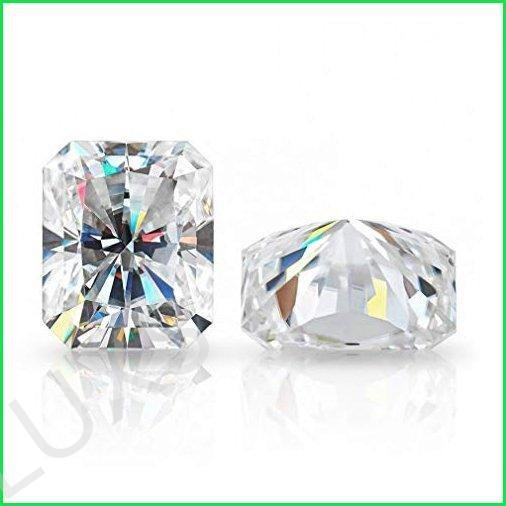 ERAA Jewel Loose Moissanite 1.00CT-30.0CT, Real Colorless Diamond, VVS1 Clarity, Radiant Cut Brilliant Gemstone for Making Vintage Ring, Jew