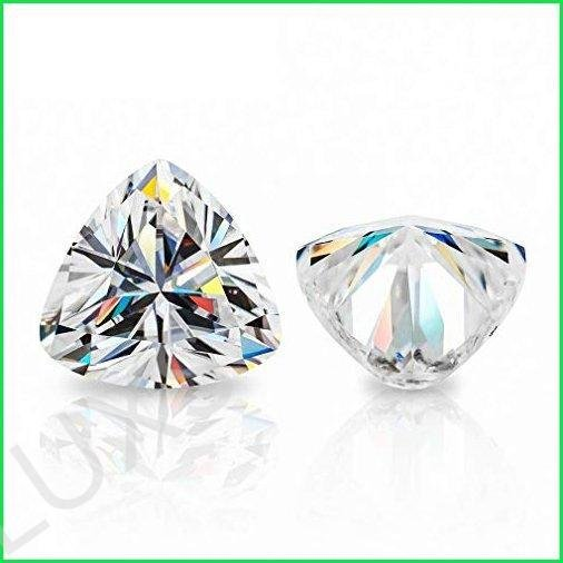 ERAA Jewel Loose Moissanite 25.0CT, Real Colorless Diamond, VVS1 Clarity, Trillion Cut Brilliant Gemstone for Making Vintage Ring, Jewelry,