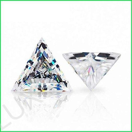 ERAA Jewel Loose Moissanite 6.00CT, Real Colorless Diamond, VVS1 Clarity, Triangle Cut Brilliant Gemstone for Making Vintage Ring, Jewelry,