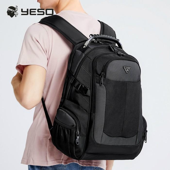 リュック  ビジネスリュック  リュックサック メンズ  デイパック  メンズバッグ 通学    通勤 旅行  防災 バッグ 大容量 黒 YESO 32L Y12060 送料無料|lwinbag|03
