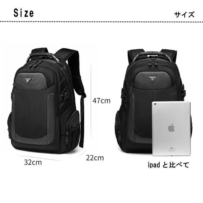 リュック  ビジネスリュック  リュックサック メンズ  デイパック  メンズバッグ 通学    通勤 旅行  防災 バッグ 大容量 黒 YESO 32L Y12060 送料無料|lwinbag|06