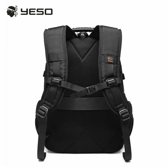 リュック  ビジネスリュック  リュックサック メンズ  デイパック  メンズバッグ 通学    通勤 旅行  防災 バッグ 大容量 黒 YESO 32L Y12060 送料無料|lwinbag|10
