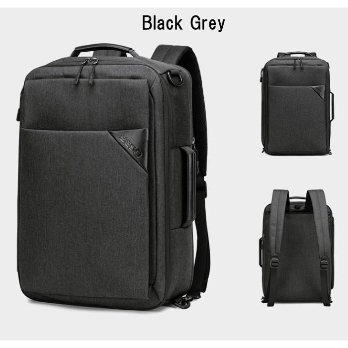 ビジネスリュック  3way ビジネスバッグ ブリーフケース リュックサック  大容量 バックパック カバン 鞄 バッグ メンズ  軽量  出張  A4  YESO 父の日 送料無料|lwinbag|04