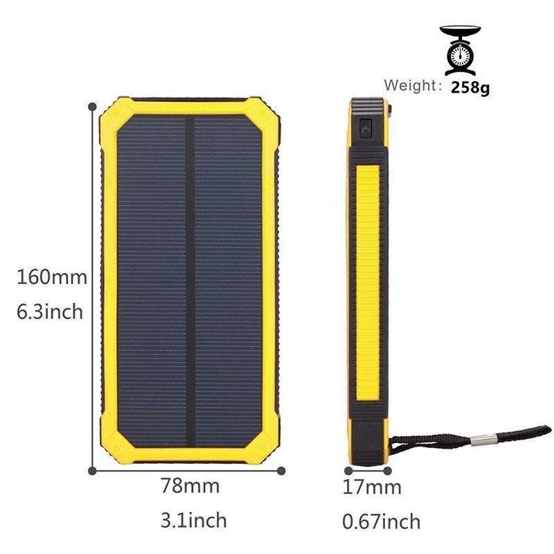 モバイルバッテリー  ソーラー モバイルバッテリー 15000mAh  大容量 ソーラーチャージャー 充電器 2USB出力ポート 災害 旅行 iPhone/Android(CDB-TYN)|lzgp|12